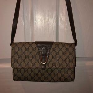 Vintage Gucci Logo Crossbody Shoulder Handbag